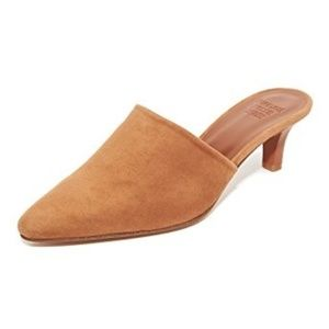 MNZ Maryam Nassir Zadeh Andrea Mules Whiskey Suede